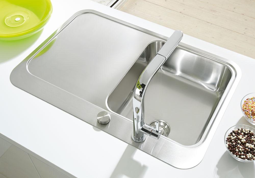 Abbildung Spüle Silber